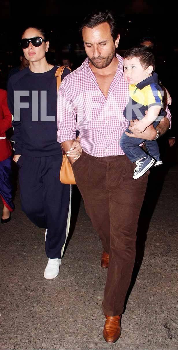 Kareena Kapoor Khan, Saif Ali Khan and Taimur Ali Khan Pataudi