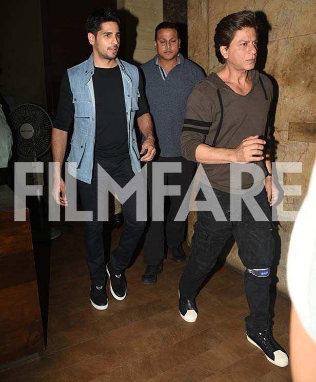 Sidharth Malhotra and Shah Rukh Khan