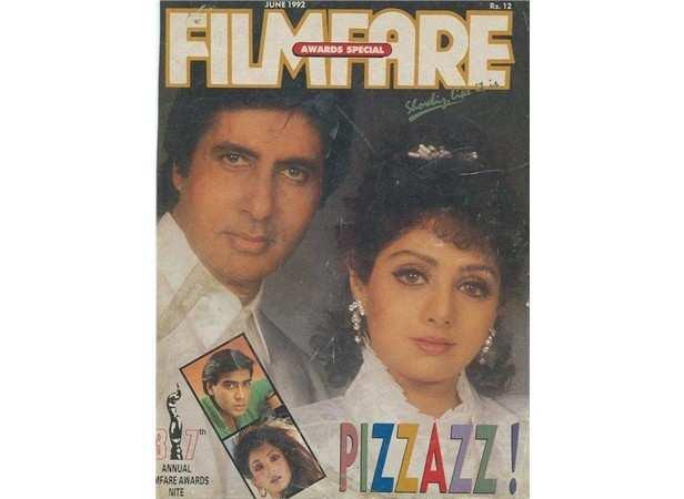 Sri Devi Filmfare cover