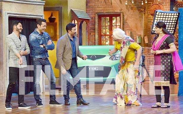 Sunny Deol, Upasna Singh, Krishna Abhishek, Bobby Deol and Shreyas Talpade