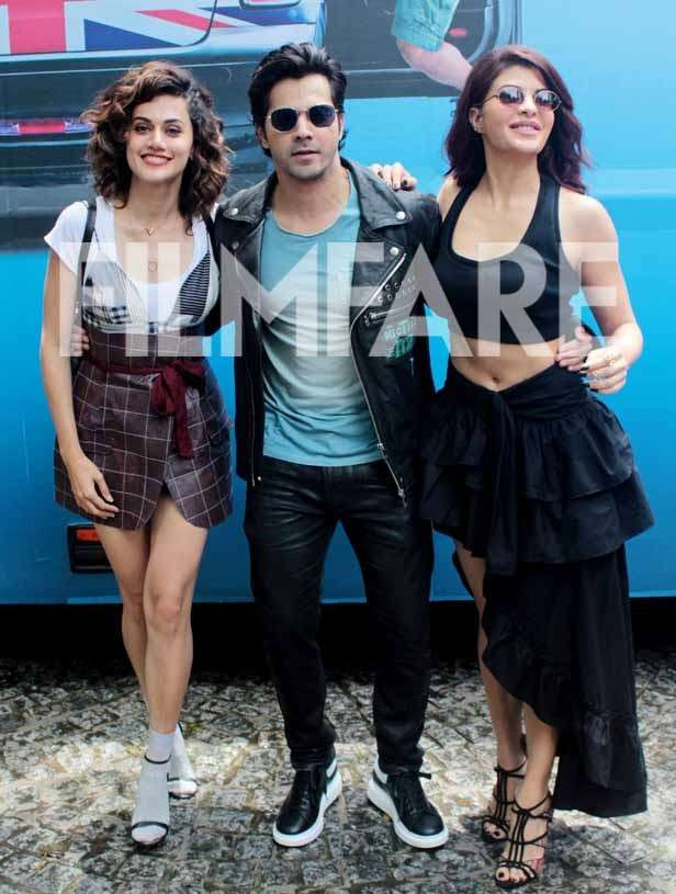 photos varun dhawan jacqueline fernandez and taapsee