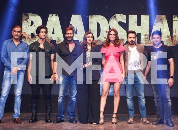 Vidyut Jammwal, Ajay Devgn, Ileana D'Cruz, Emran Hashmi and Esha Gupta at the trailer launch of their film Baadshaho