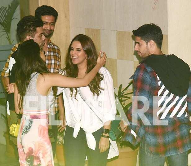 Vicky Kaushal, Karan Johar, Kiara Advani, Sidharth Malhotra, Neha Dhupia