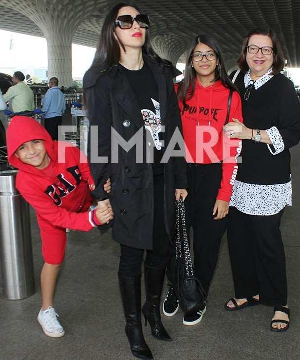 Kiaan Raj Kapoor, Karisma Kapoor, Samiera Kapoor, Babita