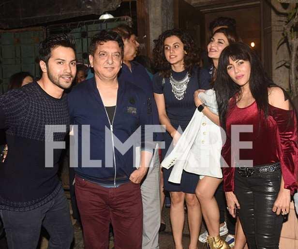 Karuna Dhawan, Varun Dhawan, Sajid Nadiadwala, David Dhawan, Taapsee Pannu, Manish Malhotra, Jacqueline Fernandez