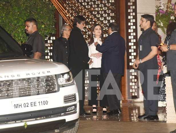 Amitabh Bachchan snapped at the Ambani Bash