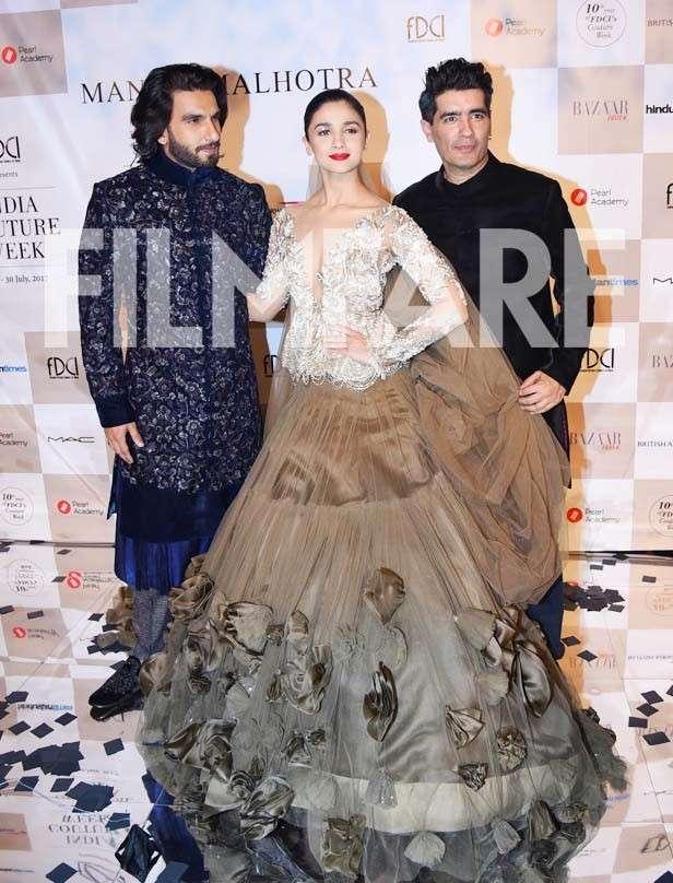Ranveer Singh, Alia Bhatt, Manish Malhotra