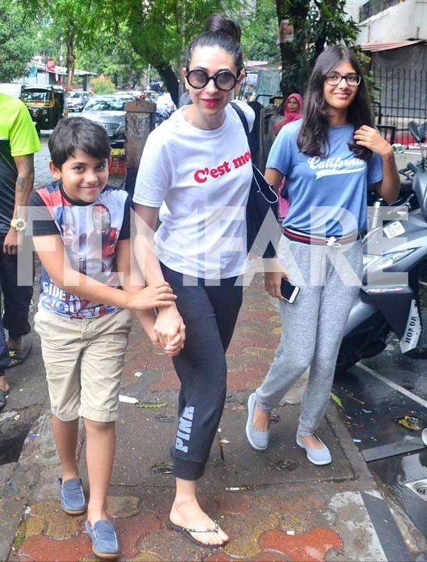 Kiaan Raj Kapoor, Karisma Kapoor and Samiera Kapoor