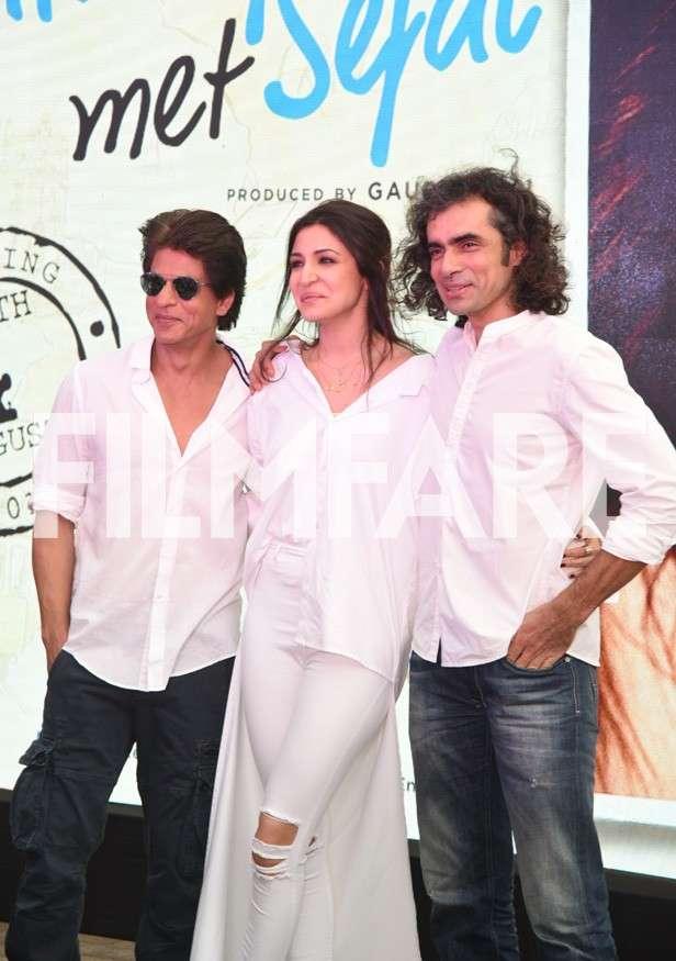 Shah Rukh Khan, Anushka Sharma and Imtiaz Ali