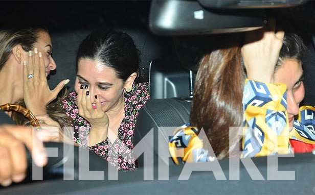 Amrita Arora, Karisma Kapoor, Kareena Kapoor Khan