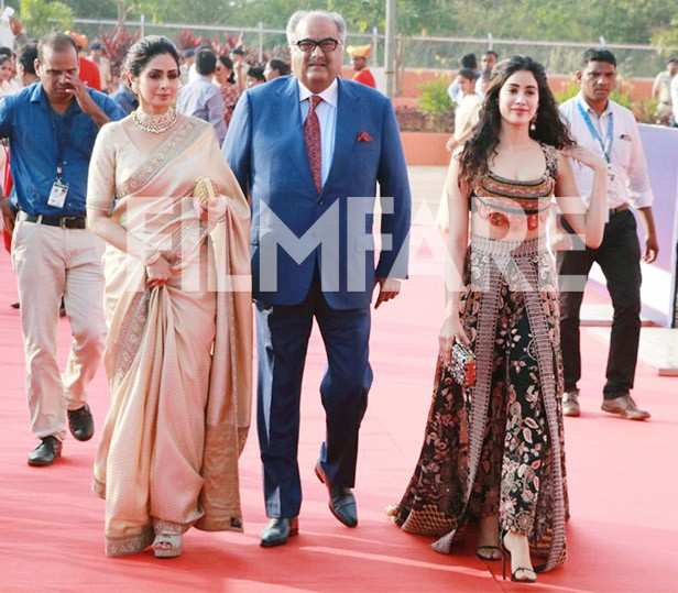 Sridevi, Boney Kapoor, Janhvi Kapoor