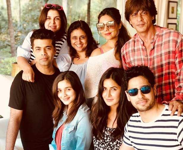 Karan Johar, Alia Bhatt, Katrina Kaif, Sidharth Malhotra, Shah Rukh Khan, Gauri Khan, Farah Khan