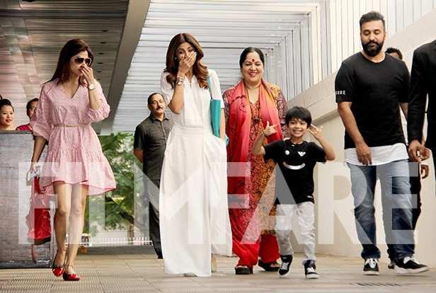 Shamita Shetty, Shilpa Shetty Kundra, Sunanda Shetty, Viaan Raj Kundra, Raj Kundra
