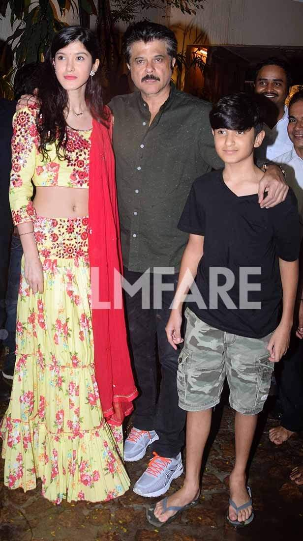 Anil Kapoor, Raj Kundra, Shilpa Shetty, Sridevi, Krishna Kapoor, Sanjay Kapoor, Raveena Tandon
