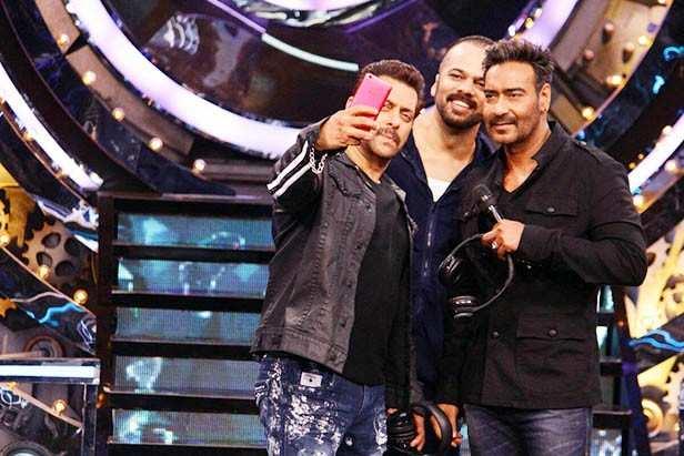 Salman Khan, Rohit Shetty, Ajay Devgn