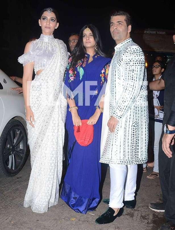 Sonam Kapoor, Rhea Kapoor, Karan Johar