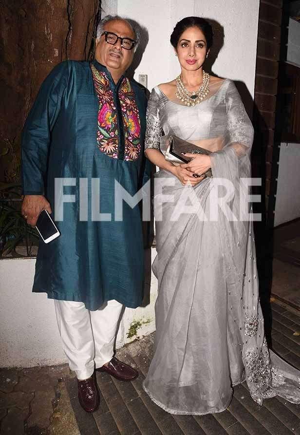 Sridevi, Boney Kapoor, Jhanvi Kapoor, Khushi Kapoor