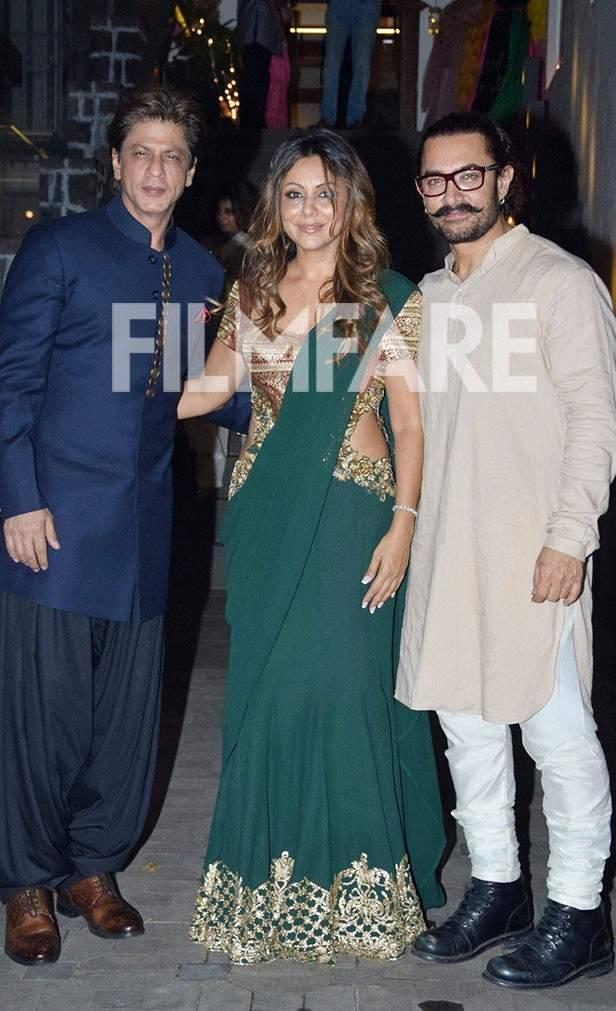 Shah Rukh Khan, Gauri Khan, Aamir Khan