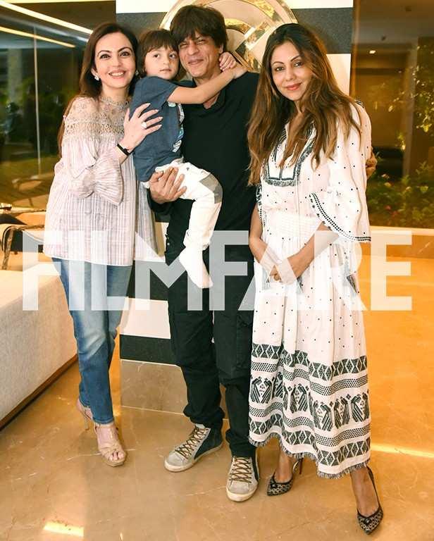 Nita Ambani, AbRam Khan, Shah Rukh Khan, Gauri Khan