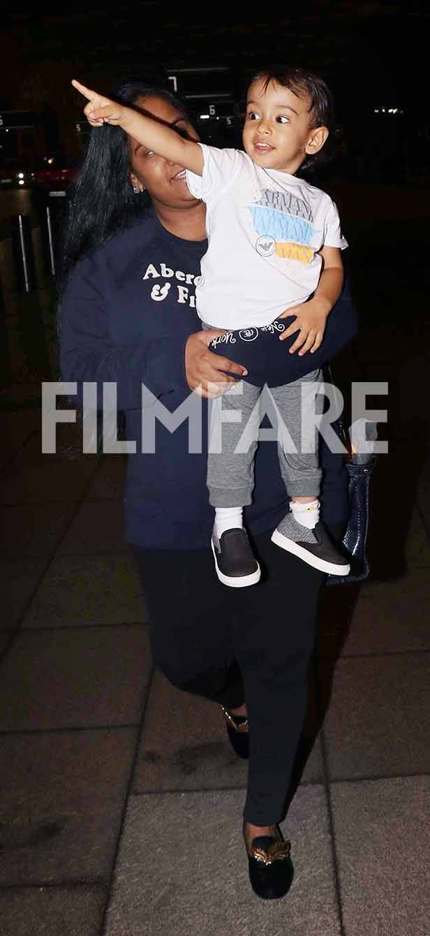 Ahil and Arpita Khan Sharma