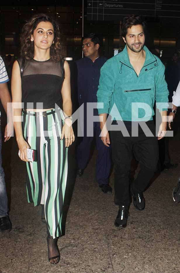 Taapsee Pannu and Varun Dhawan
