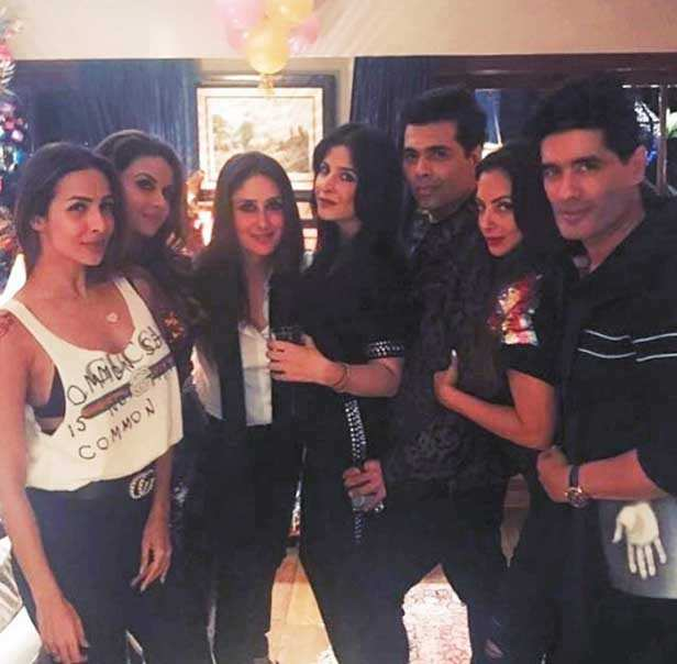 Malaika Arora, Kareena Kapoor Khan, Karan Johar, Manish Malhotra