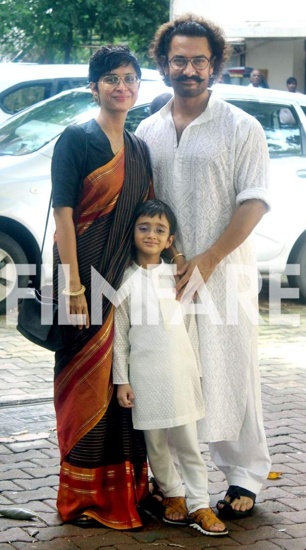 Kiran Rao, Azad Rao Khan and Aamir Khan