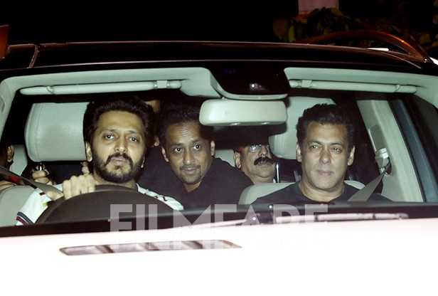 Riteish Deshmukh, Salman Khan, Jacqueline Fernandez, Ramesh Taurani, Bobby Deol