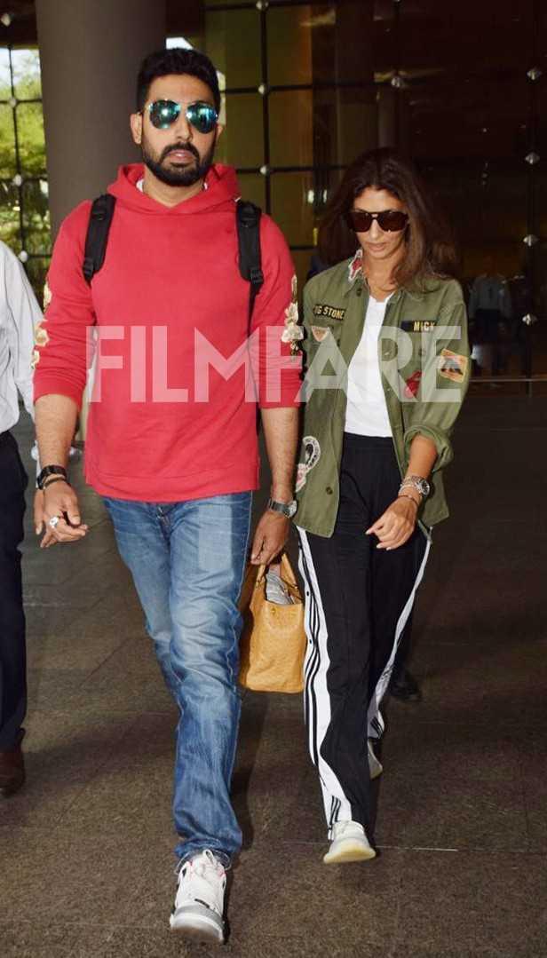 Abhishek Bachchan, Shweta Bachchan Nanda