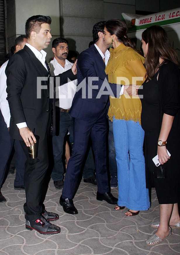 Karan Johar, Ranbir Kapoor, Deepika Padukone