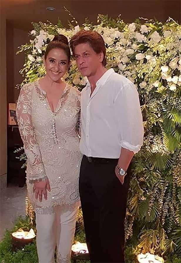 Manisha Koirala, Shah Rukh Khan, Manish Malhotra