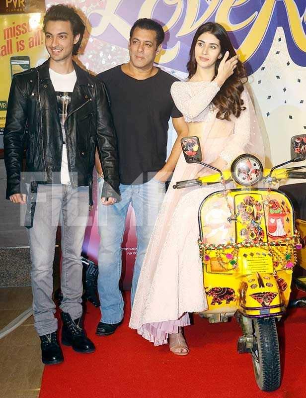 Aayush Sharma, Salman Khan, Warina Hussain