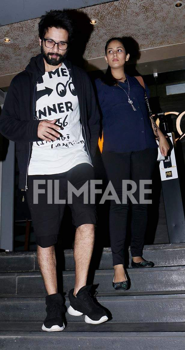 In pictures! Shahid Kapoor takes out ladylove Mira Kapoor on a movie date