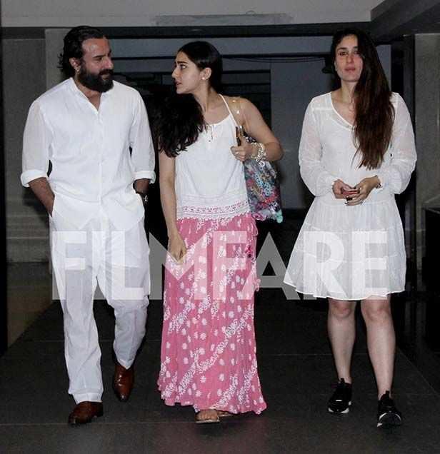 Saif Ali Khan, Sara Ali Khan, Kareena Kapoor Khan