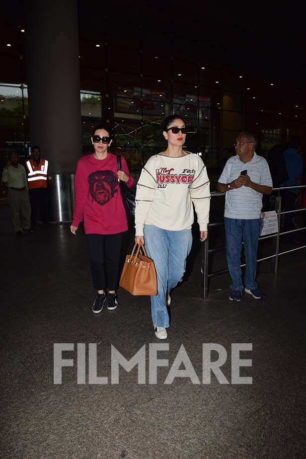Photos! Ranbir, Karisma and Kareena Kapoor Khan return to the bay