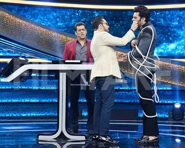 Manish Paul, Salman Khan, Mika Singh