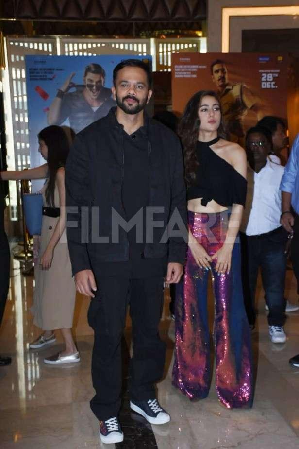 Ranveer Singh, Rohit Shetty, Sara Ali Khan, Karan Johar