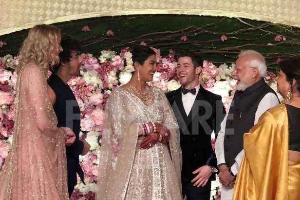 Sophie Turner, Joe Jonas, Priyanka Chopra, Nick Jonas, Narendra Modi, Madhu Chopra