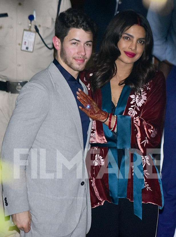 Priyanka Chopra and Nick Jonas arrive in Mumbai ahead of their reception