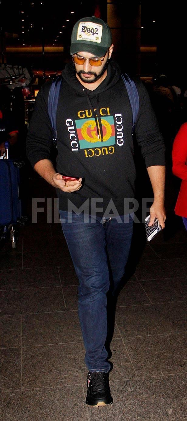 Arjun Kapoor, Boney Kapoor, Janhvi Kapoor, Khushi Kapoor