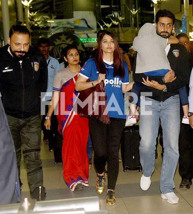 Aishwarya Rai Bachchan, Aaradhya Bachchan, Abhishek Bachchan
