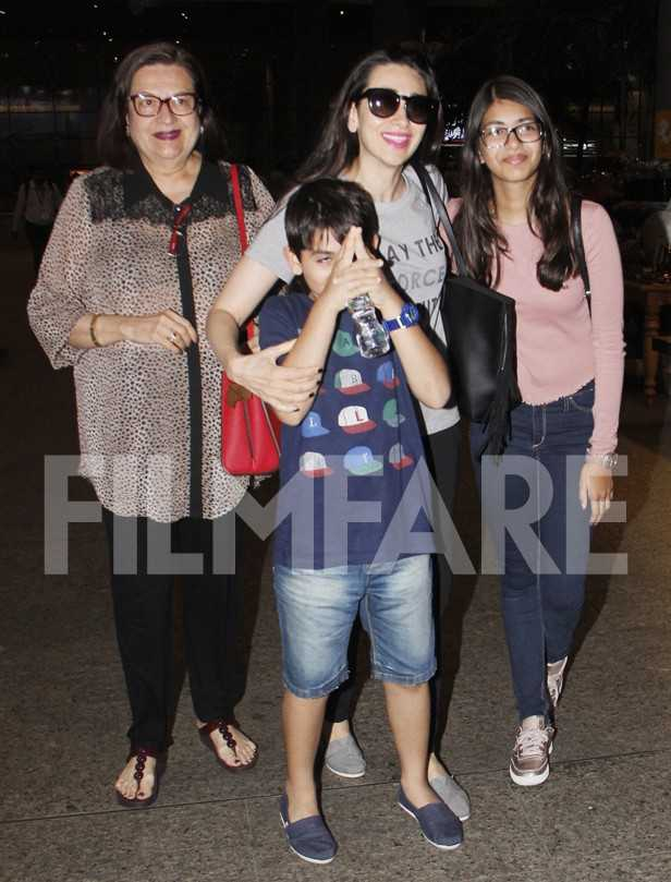 Babita Kapoor, Kiaan Raj Kapoor, Karisma Kapoor, Samiera Kapoor