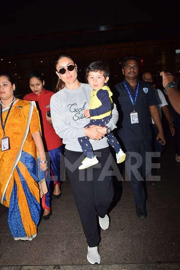 Kareena Kapoor Khan and Saif Ali Khan return from London along with Taimur