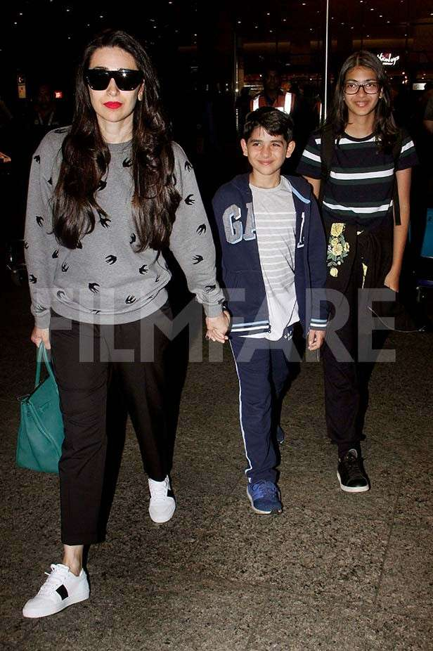 Babita, Karisma Kapoor, Kiaan Raj Kapoor, Samiera Kapoor