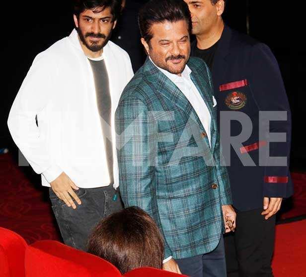 Anil Kapoor, Harshvardhan Kapoor, Karan Johar