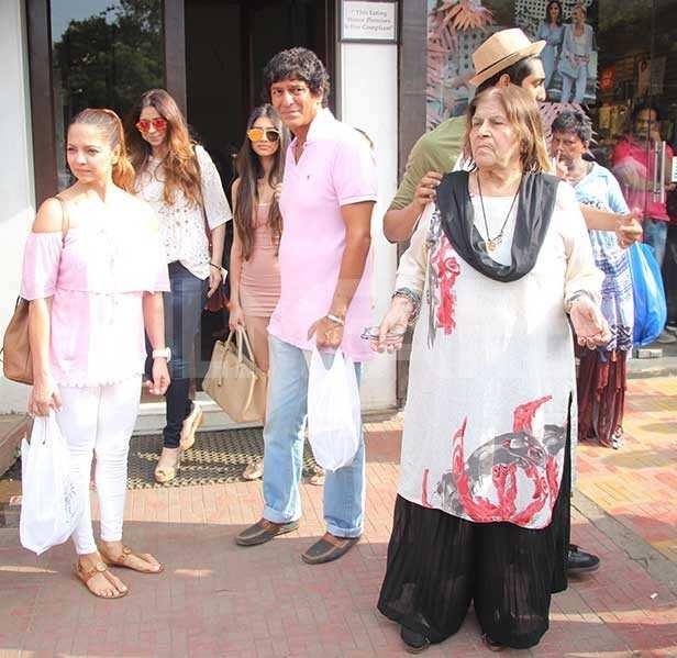 Chunky Pandey, Ananya Pandey, Snehlata Panday