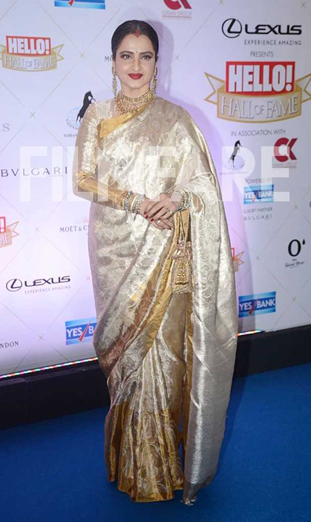Rekha at Hello Hall of Fame Awards 2018