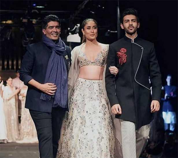 Manish Malhotra, Kareena Kapoor Khan, Kartik Aaryan