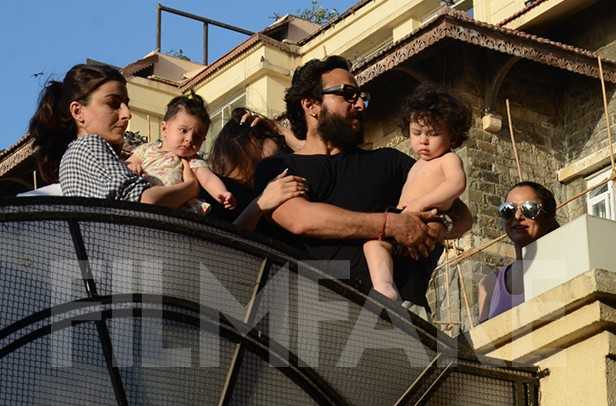 Best ever! You just can't afford to miss these pictures of Taimur Ali Khan sunbathing with the Pataudi fam