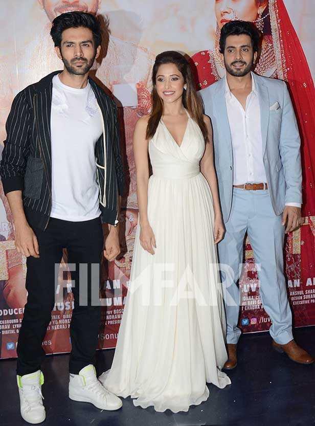 Kartik Aaryan, Nushrat Bharucha and Sunny Singh